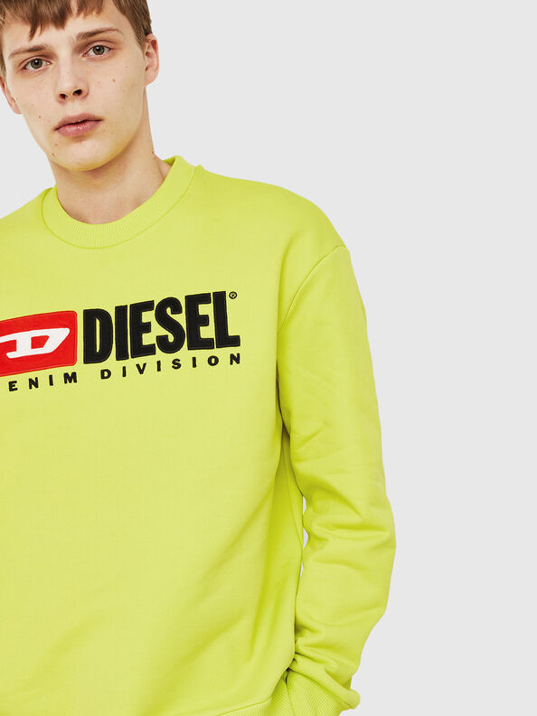 S-CREW-DIVISION, Neongelb - Sweatshirts