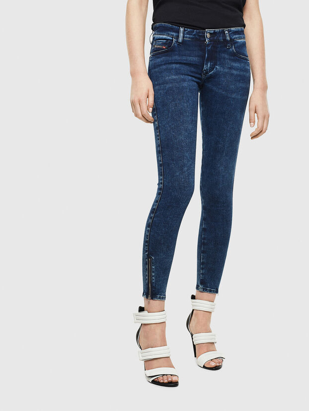 Slandy Low 0094Z, Dunkelblau - Jeans