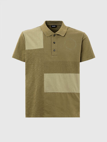 Poloshirt mit Patchworkdesign