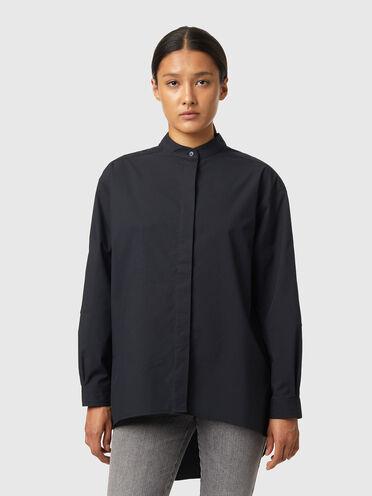 Asymmetrisches Shirt aus Popeline
