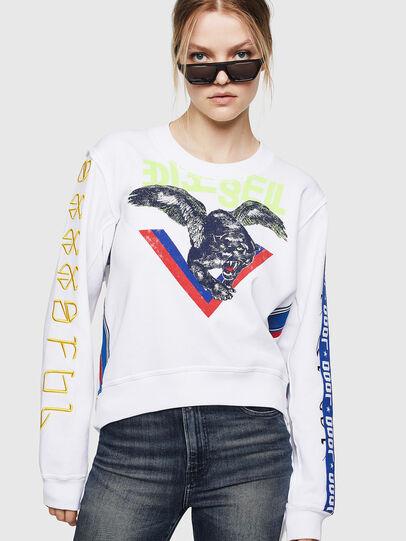 Diesel - F-LYANYDY, Weiß - Sweatshirts - Image 1