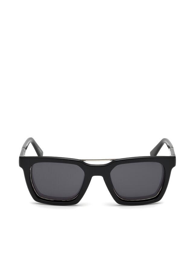 Diesel - DL0250, Brillantschwarz - Sonnenbrille - Image 1
