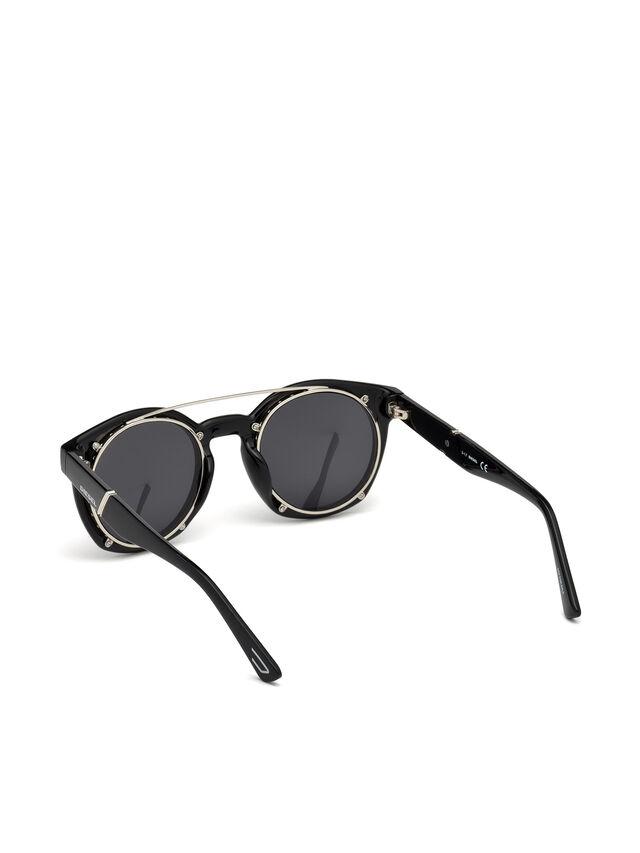 Diesel - DL0251, Brillantschwarz - Sonnenbrille - Image 2