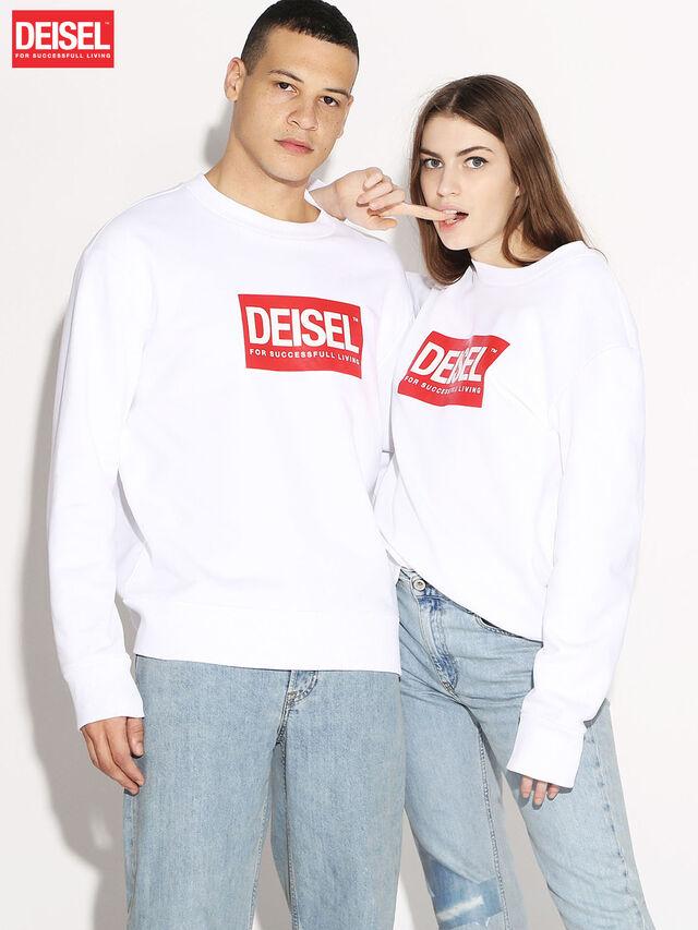 Diesel - DEIS-SGIRO, Weiß - Sweatshirts - Image 1