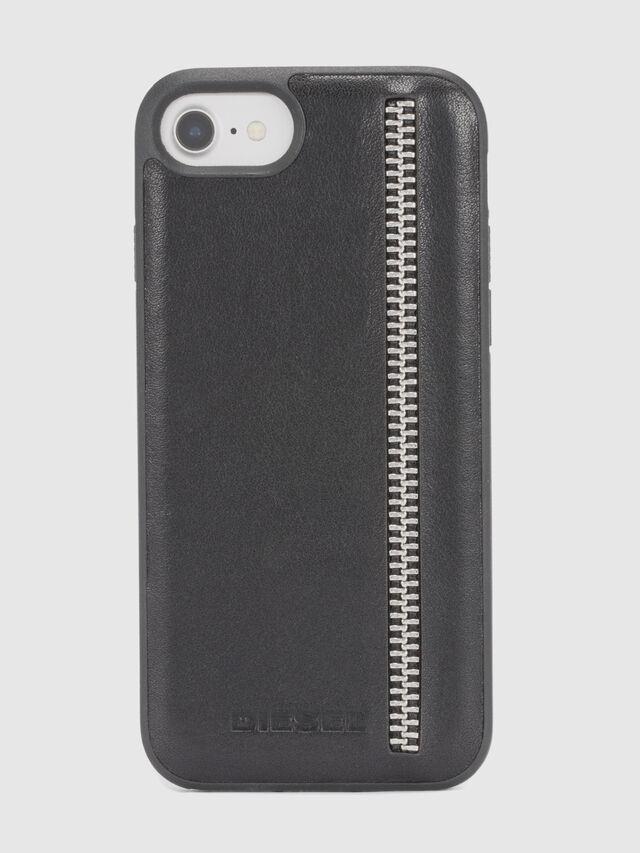 Diesel - ZIP BLACK LEATHER IPHONE 8/7/6s/6 CASE, Schwarz - Schutzhüllen - Image 2