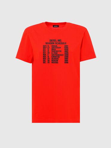 Baumwoll-T-Shirt mit Aufdruck in Reliefoptik