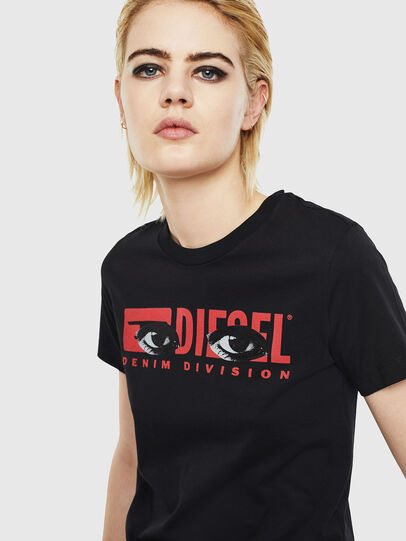 Diesel - T-SILY-YD, Schwarz - T-Shirts - Image 3