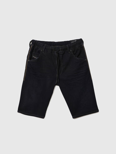 Shorts im Slim Fit aus JoggJeans®-Material mit Abriebstellen