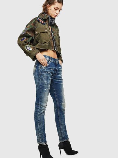 Diesel - Krailey JoggJeans 0870Q, Mittelblau - Jeans - Image 6