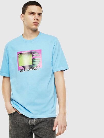 Diesel - T-JUST-NEON-S1, Azurblau - T-Shirts - Image 1