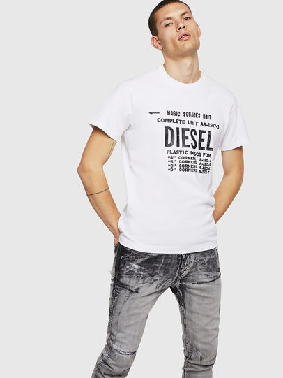 Diesel - T-DIEGO-B6, Weiß - T-Shirts - Image 4