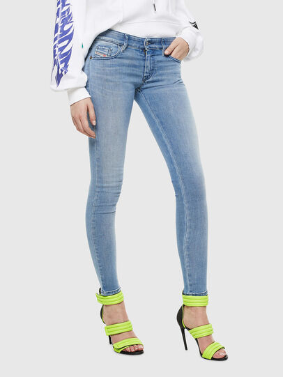 Diesel - Slandy Low 0096L, Hellblau - Jeans - Image 1