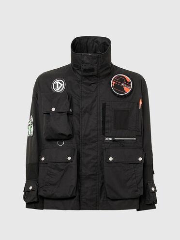 Jacke im Paneldesign mit auffälligen 3D-Taschen