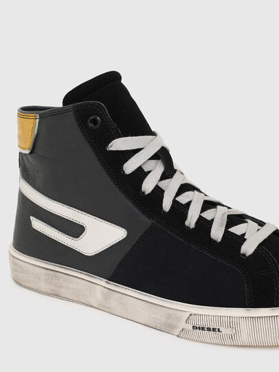 Diesel - S-MYDORI ML, Schwarz/Gelb - Sneakers - Image 4