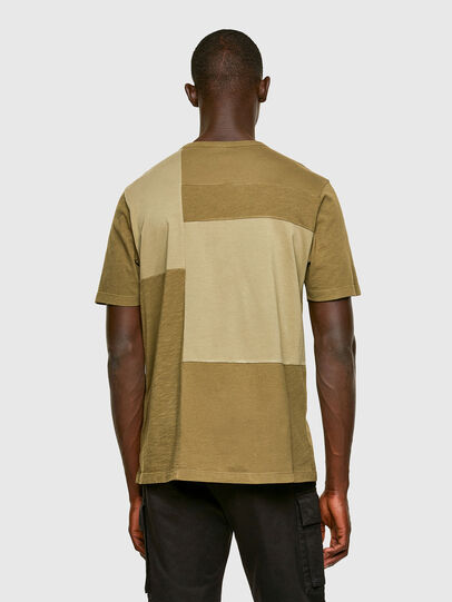 Diesel - T-ATCHWORK, Armeegrün - T-Shirts - Image 2