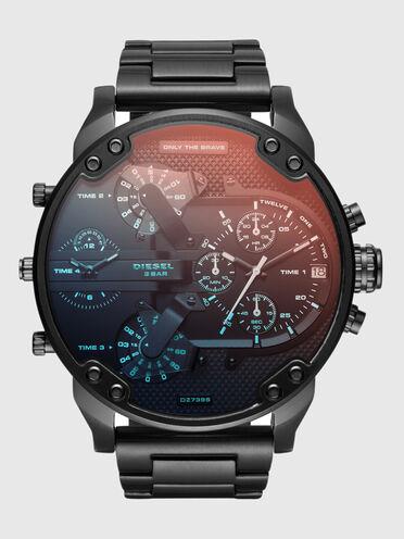 Mr. Daddy 2.0 Schwarze Uhr mit detailreichem Ziffernblatt, 57mm