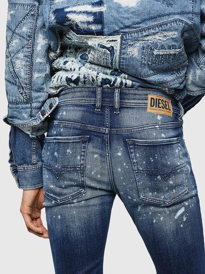 Diesel - Sleenker 0091Y, Mittelblau - Jeans - Image 5