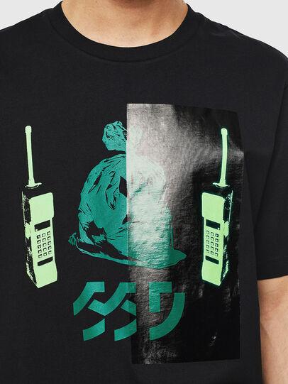 Diesel - T-JUST-T30, Schwarz - T-Shirts - Image 3