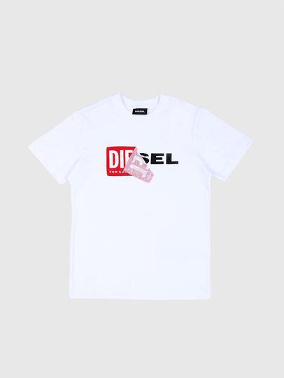 Diesel - TDIEGO, Weiß/Rot - T-Shirts und Tops - Image 1
