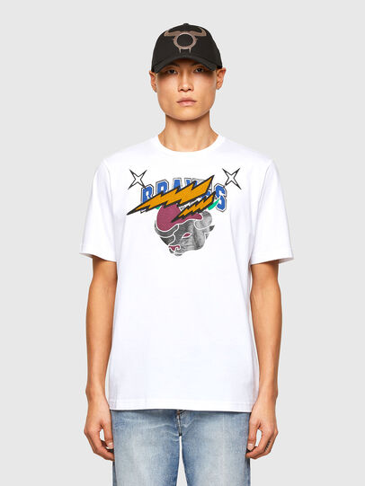 Diesel - CL-T-JUST-O1, Weiß - T-Shirts - Image 1
