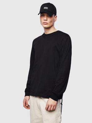 T-HUSTY-LS, Schwarz - T-Shirts