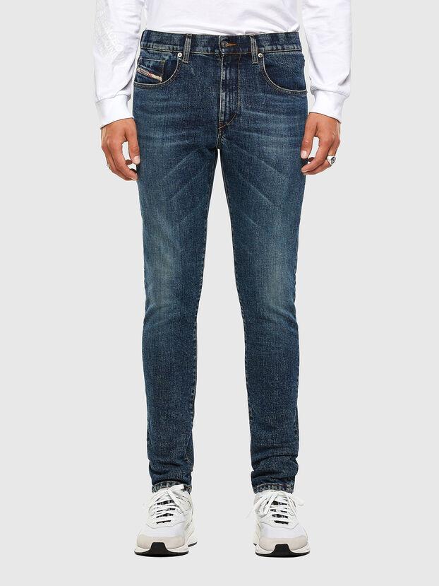 D-Strukt 009AR, Mittelblau - Jeans