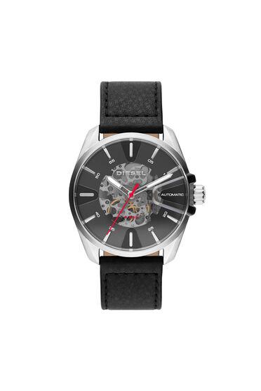 MS9 Armbanduhr mit schwarzem Lederarmband