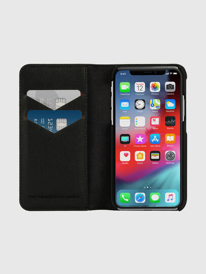Diesel - DIESEL 2-IN-1 FOLIO CASE FOR IPHONE XS & IPHONE X, Schwarz/Weiß - Klappcover - Image 7