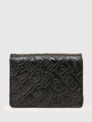 Dreifach faltbare Brieftasche mit Logo-Prägung
