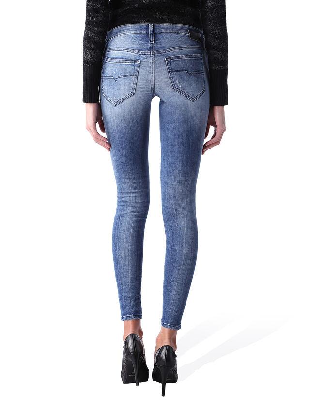 Diesel - Skinzee Low Zip 0847U, Mittelblau - Jeans - Image 4