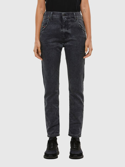 Diesel - KRAILEY JoggJeans® 069QB, Schwarz/Dunkelgrau - Jeans - Image 1