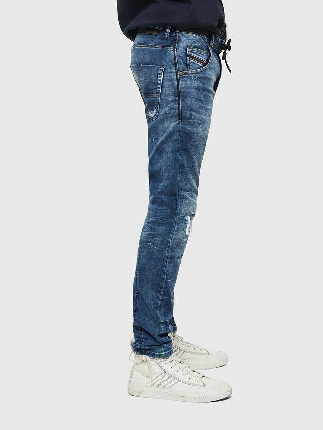 Diesel - Krooley JoggJeans 0685I, Mittelblau - Jeans - Image 4