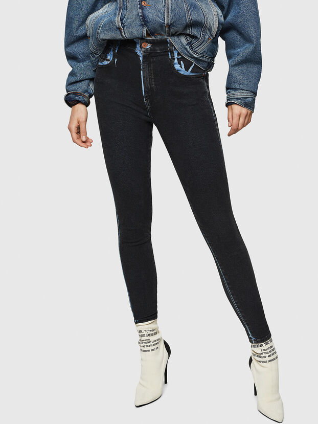 Slandy High 0094B, Dunkelblau - Jeans
