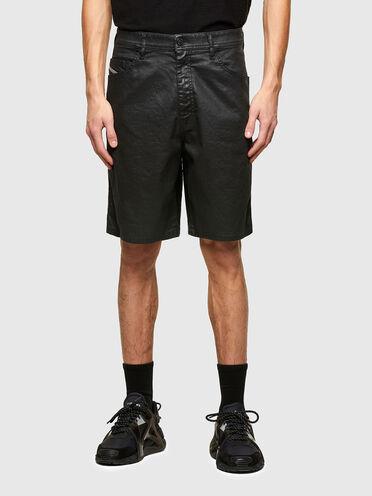 Shorts aus beschichtetem JoggJeans-Material