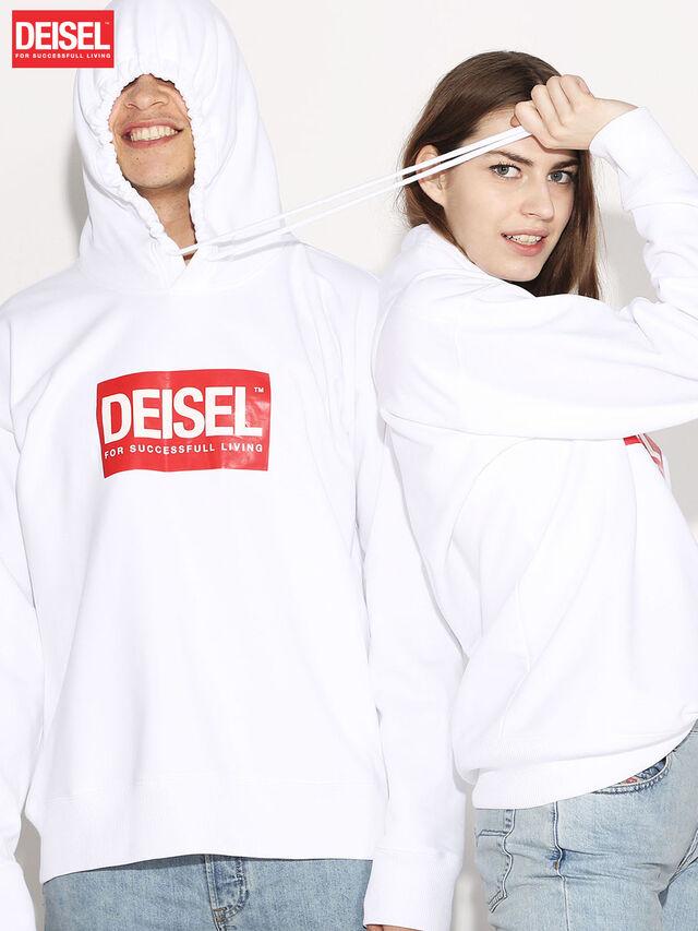 Diesel - DEIS-SHOOD, Weiß - Sweatshirts - Image 1