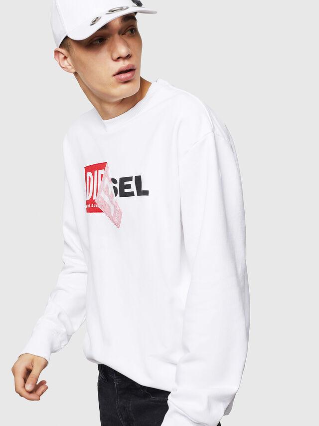 Diesel - S-SAMY, Weiß - Sweatshirts - Image 4
