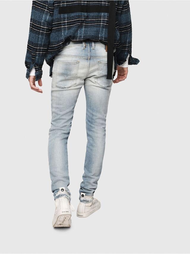 Diesel - Sleenker 081AJ, Hellblau - Jeans - Image 2
