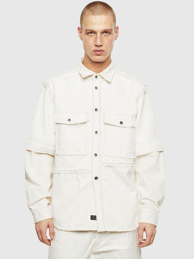D-KURTIS, Weiß - Denimhemden