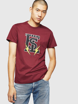 T-DIEGO-B3, Bordeauxrot - T-Shirts