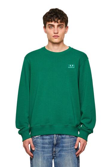 Green Label Sweatshirt mit Emoji-Logo