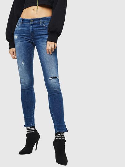 Diesel - Slandy Zip 089AI, Mittelblau - Jeans - Image 1