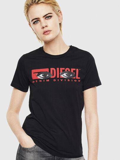 Diesel - T-SILY-YD, Schwarz - T-Shirts - Image 1
