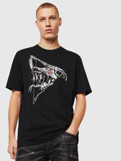 Diesel - T-JUST-J15, Schwarz - T-Shirts - Image 1