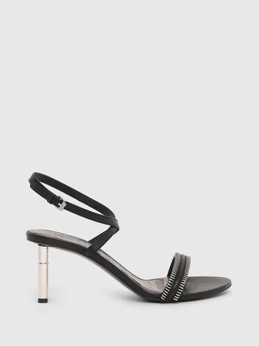 Halbhohe Sandaletten aus Leder