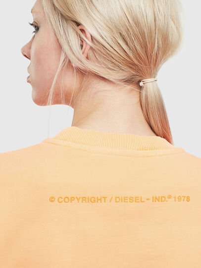 Diesel - S-BIAY-FLUO, Orange - Sweatshirts - Image 6