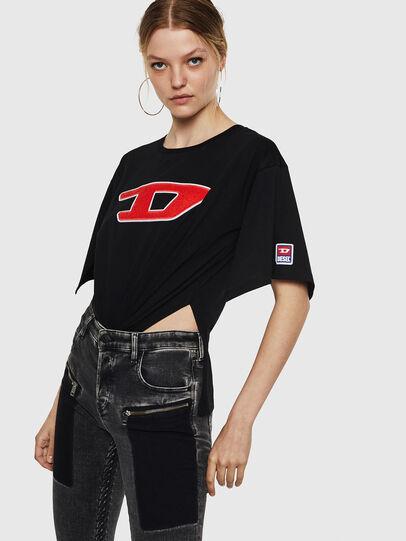 Diesel - T-JACKY-I, Schwarz - T-Shirts - Image 3