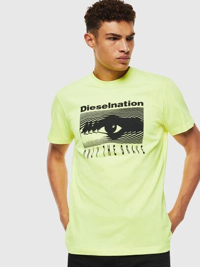 Diesel - T-DIEGO-J4, Neongelb - T-Shirts - Image 1