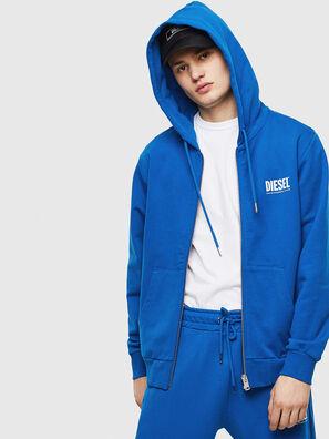 S-GIRK-HOOD-ZIP-LOGO, Blau - Sweatshirts