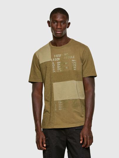 Diesel - T-ATCHWORK, Armeegrün - T-Shirts - Image 1