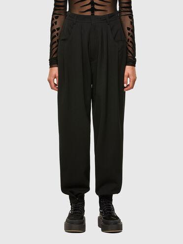 Hose aus Cool Wool mit ungesäumten Kanten